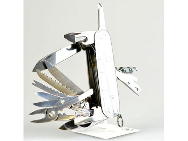 送料無料 ビクトリノックス Victorinox ナイフ&刃物 スイスチャンプ・シルバーテック