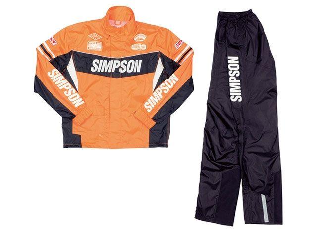送料無料 シンプソン SIMPSON レインウェア 2016春夏モデル SRS-6191 Rain Suit オレンジ L