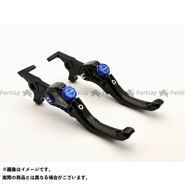 【特価品】リデア LV4 Omega ショート可倒式ノブアジャスターレバー 左右セット(レバー本体:ブラック/ノブアジャスター:ブルー) RIDEA