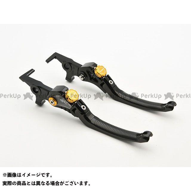【特価品】リデア MT-07 MT-09 MT-10 LV4 Omega スタンダード可倒式ノブアジャスターレバー 左右セット(レバー本体:ブラック/ノブアジャスター:ゴールド) RIDEA
