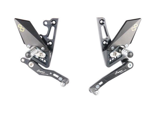 ライテック スピードトリプル スピードトリプルR バックステップ関連パーツ ステップキットシリーズ SPEED TRIPLE 1050/1050 R 11-17用 固定式ステップバー