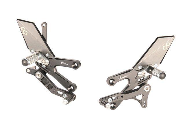 ライテック YZF-R25 YZF-R3 バックステップ関連パーツ ステップキットシリーズ R3/R25 15-17用 可倒式ステップバー