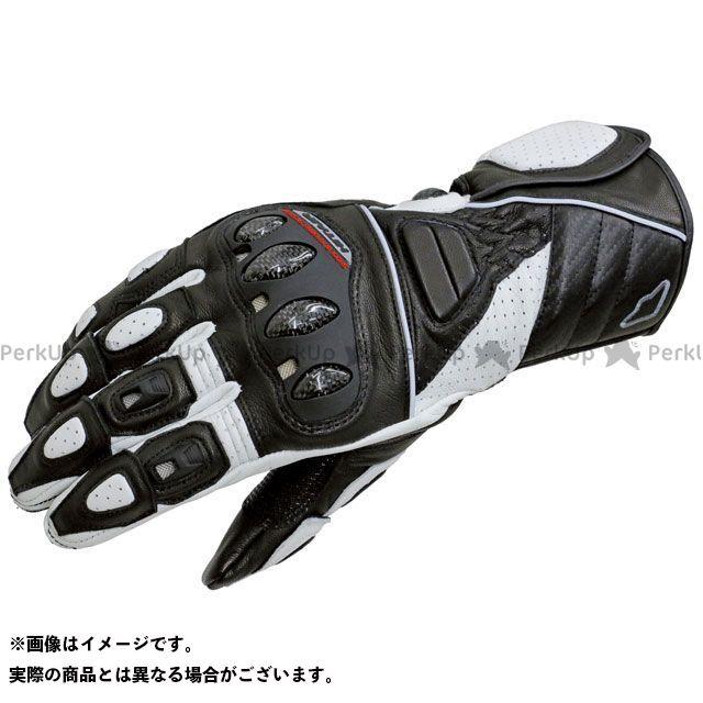 【エントリーで更にP5倍】hit air Glove R3 レーシングレザーグローブ カラー:ブラック/ホワイト サイズ:L ヒットエアー