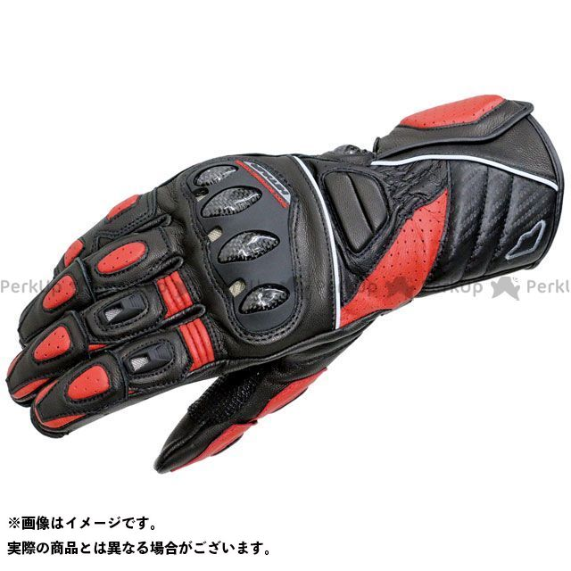 【エントリーで更にP5倍】hit air Glove R3 レーシングレザーグローブ カラー:ブラック/レッド サイズ:XL ヒットエアー