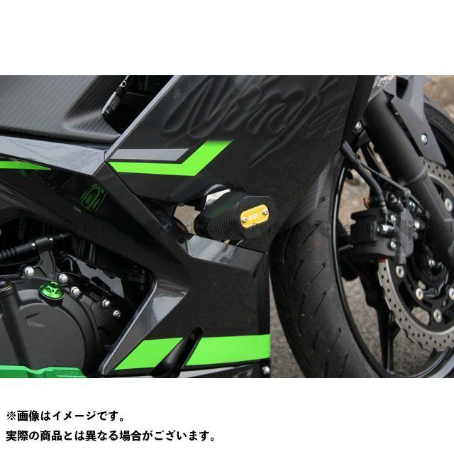【特価品】SSK ニンジャ250 ニンジャ400 フレームスライダー カラー:チタン エスエスケー