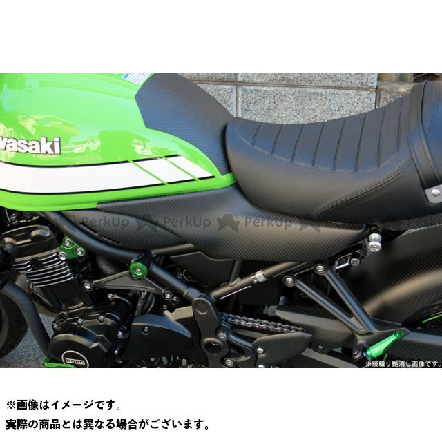 【エントリーで更にP5倍】SSK Z900RS Z900RSカフェ サイドカバー 一体式 ドライカーボン 仕様:平織艶あり エスエスケー