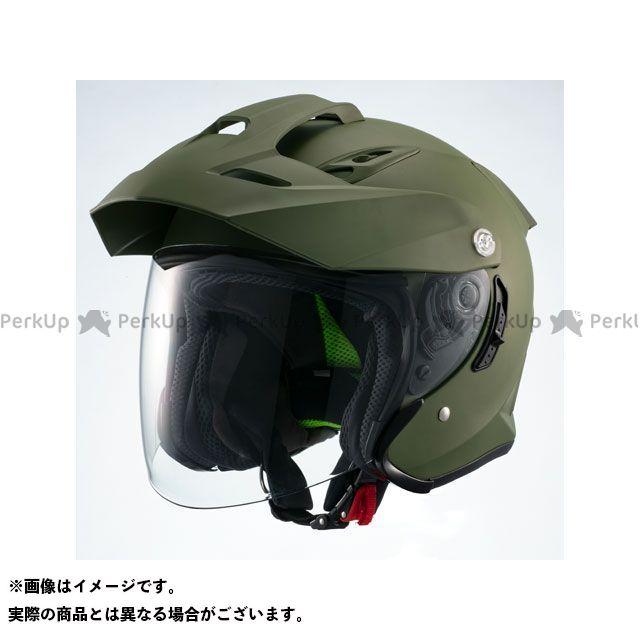 Marushin インナーバイザー付きジェットヘルメット MSJ1 TE-1(マットカーキ) XL マルシン