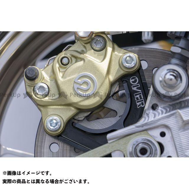 オーバーレーシング モンキー125 Rキャリパーサポート ブレンボ2P(カニ) アップマウント(上側) ブラック OVER RACING
