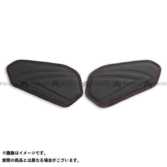 LUI MOTO GSX-R600 GSX-R750 タンクリーフ/Sport ニーグリップパッド TEC-GRIP/CFブラック/レッドステッチ