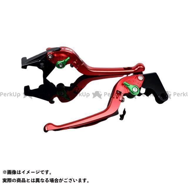 SSK ニンジャZX-14R アルミビレットアジャストレバーセット 3D可倒式(レバー本体:レッド) グリーン