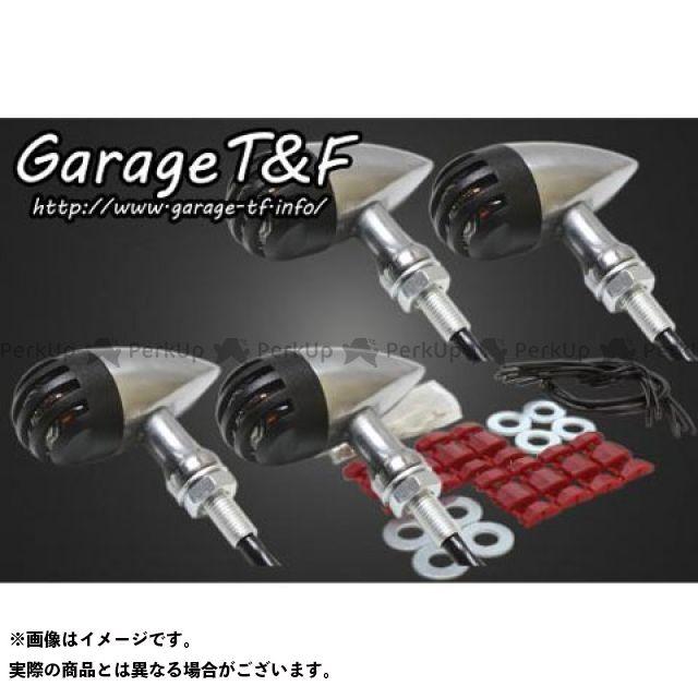 ガレージT&F 250TR ウインカー関連パーツ バードゲージウィンカータイプ2 ダークレンズ仕様 キット ポリッシュ ブラック