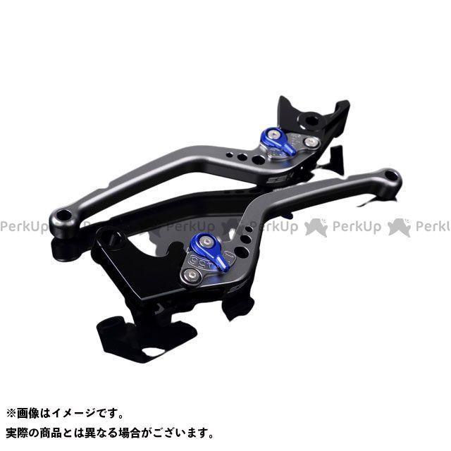 エスエスケー 日本未発売 SSK レバー 大規模セール ハンドル 無料雑誌付き MT-10 ナイケン MT-09トレーサー スタンダードロング レバー本体:マットチタン アジャスター:マットブルー アルミビレットアジャストレバーセット トレーサー900