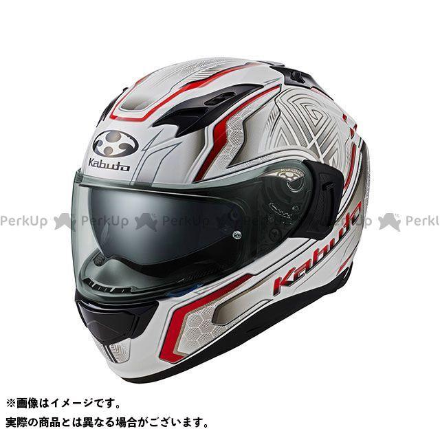 OGK KABUTO オージーケーカブト KAMUI-III CIRCLE(カムイ・3 サークル) パールホワイト/レッド XS
