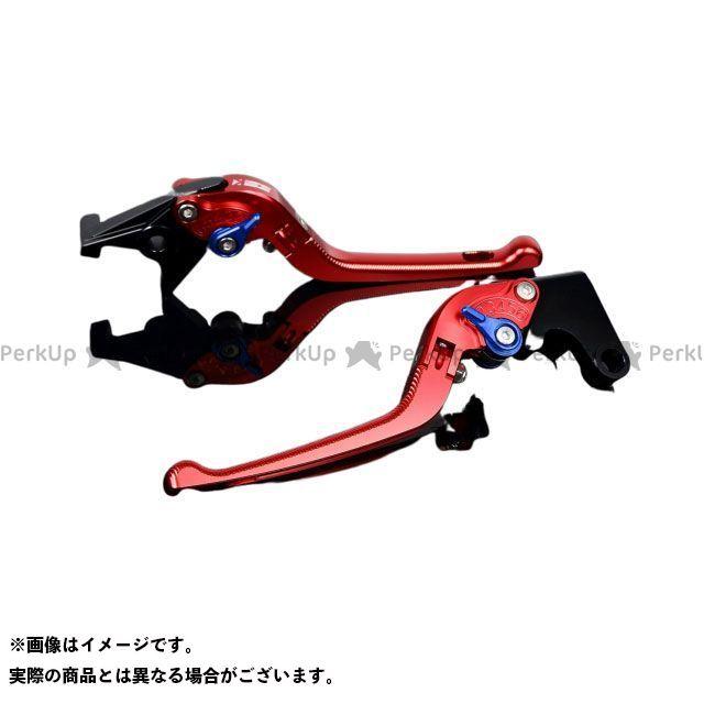 SSK エヌマックス125 アルミビレットアジャストレバーセット 3D可倒式(レバー本体:レッド) アジャスター:ブルー エスエスケー