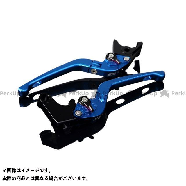 SSK VFR1200F アルミビレットアジャストレバーセット 3D可倒式(レバー本体:マットブルー) アジャスター:マットブラック エスエスケー