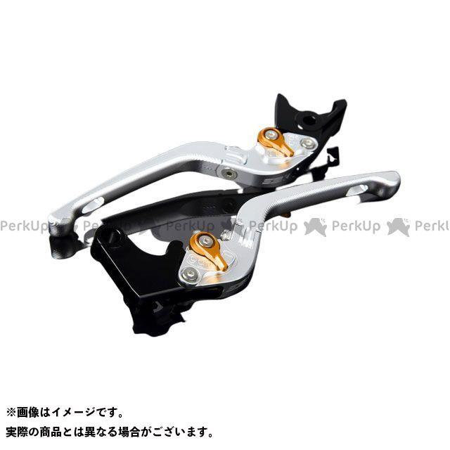 メーカー在庫あり SSK VFR1200F アルミビレットアジャストレバーセット 3D可倒式(レバー本体:マットシルバー) マットゴールド