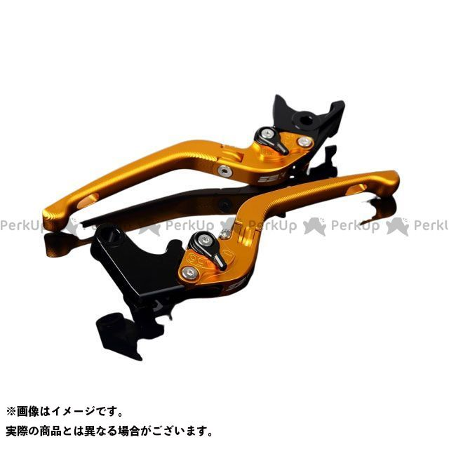SSK CBR600RR CBR954RRファイヤーブレード アルミビレットアジャストレバーセット 3D可倒式(レバー本体:マットゴールド) マットブラック
