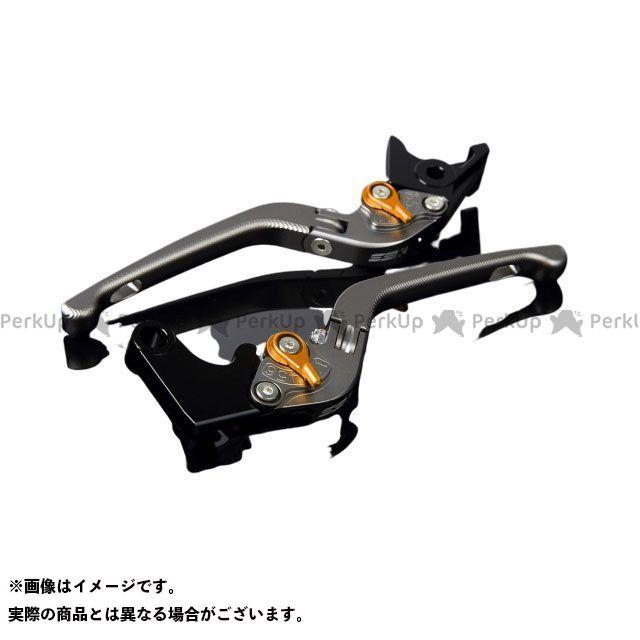 SSK CBR600RR CBR954RRファイヤーブレード アルミビレットアジャストレバーセット 3D可倒式(レバー本体:マットチタン) アジャスター:マットゴールド エスエスケー