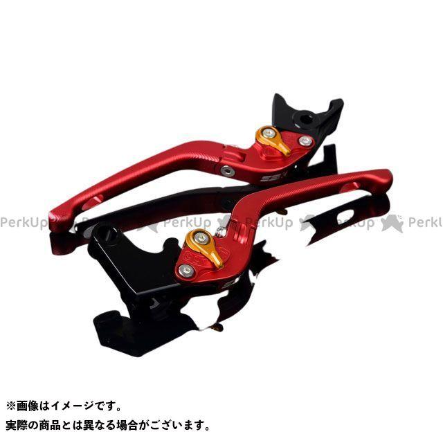 SSK CB1000R CBR1000RRファイヤーブレード アルミビレットアジャストレバーセット 3D可倒式(レバー本体:マットレッド) アジャスター:マットゴールド エスエスケー