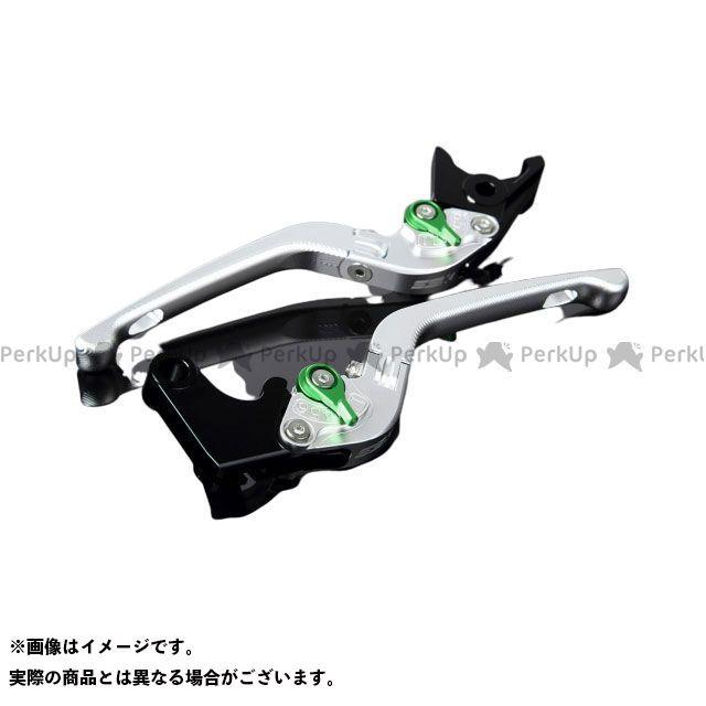 SSK CB1000R CBR1000RRファイヤーブレード アルミビレットアジャストレバーセット 3D可倒式(レバー本体:マットシルバー) マットグリーン