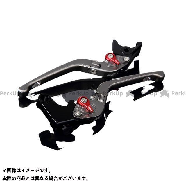 SSK CBR1000RRファイヤーブレード CBR600RR アルミビレットアジャストレバーセット 3D可倒式(レバー本体:マットチタン) マットレッド
