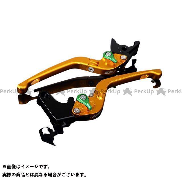 SSK CB400スーパーボルドール CB400スーパーフォア(CB400SF) エックスイレブン アルミビレットアジャストレバーセット 3D可倒式(レバー本体:マットゴールド) アジャスター:マットグリーン エスエスケー