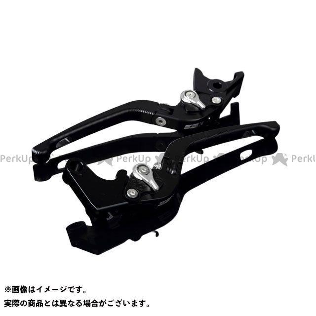 SSK MT-10 ナイケン トレーサー900・MT-09トレーサー アルミビレットアジャストレバーセット 3D可倒式(レバー本体:マットブラック) アジャスター:マットシルバー エスエスケー