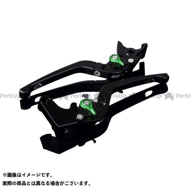 SSK MT-10 ナイケン トレーサー900・MT-09トレーサー アルミビレットアジャストレバーセット 3D可倒式(レバー本体:マットブラック) アジャスター:マットグリーン エスエスケー