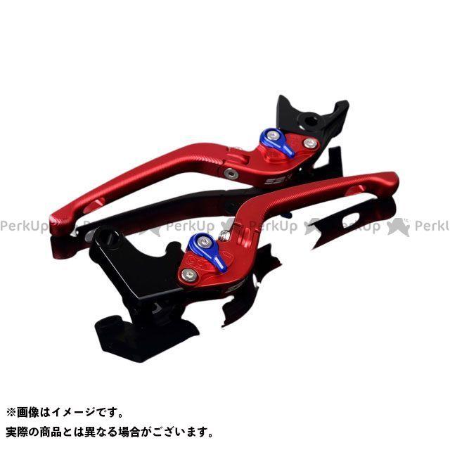 SSK YZF-R1 YZF-R6 アルミビレットアジャストレバーセット 3D可倒式(レバー本体:マットレッド) アジャスター:マットブルー エスエスケー