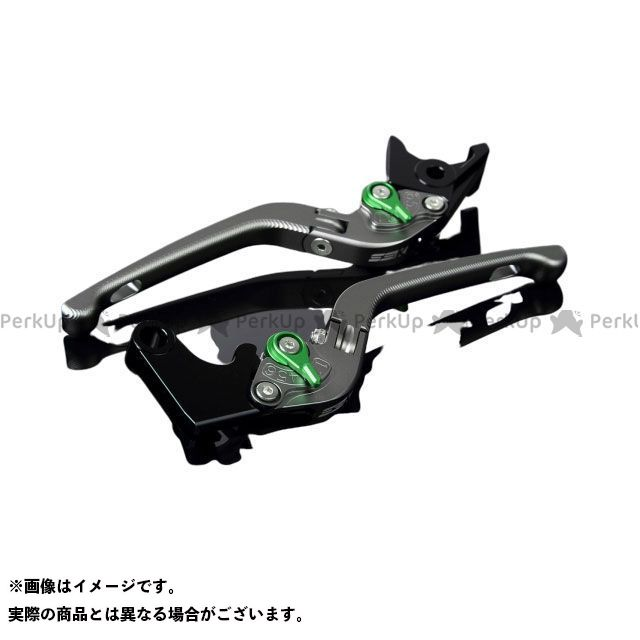 SSK YZF-R1 アルミビレットアジャストレバーセット 3D可倒式(レバー本体:マットチタン) アジャスター:マットグリーン エスエスケー