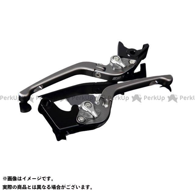 SSK YZF-R6 アルミビレットアジャストレバーセット 3D可倒式(レバー本体:マットチタン) アジャスター:マットシルバー エスエスケー