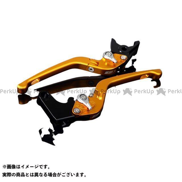 SSK GSX-R1000 アルミビレットアジャストレバーセット 3D可倒式(レバー本体:マットゴールド) アジャスター:マットシルバー エスエスケー