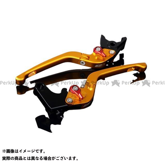 SSK GSX-R1000 アルミビレットアジャストレバーセット 3D可倒式(レバー本体:マットゴールド) アジャスター:マットレッド エスエスケー