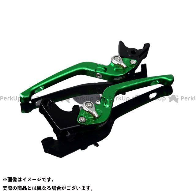 SSK デイトナ675 スピードトリプル ストリートトリプルR アルミビレットアジャストレバーセット 3D可倒式(レバー本体:マットグリーン) アジャスター:マットシルバー エスエスケー
