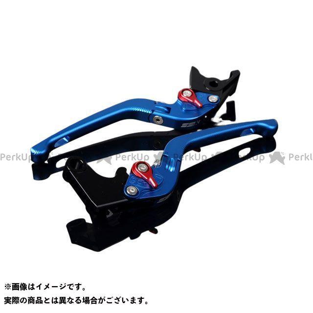 SSK デイトナ675R スピードトリプル スピードトリプルR アルミビレットアジャストレバーセット 3D可倒式(レバー本体:マットブルー) アジャスター:マットレッド エスエスケー