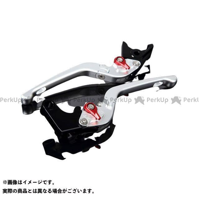 SSK デイトナ675R スピードトリプル スピードトリプルR アルミビレットアジャストレバーセット 3D可倒式(レバー本体:マットシルバー) アジャスター:マットレッド エスエスケー