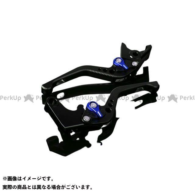 【特価品】SSK VFR1200F アルミビレットアジャストレバーセット 3Dショート(レバー本体:マットブラック) アジャスター:マットブルー エスエスケー