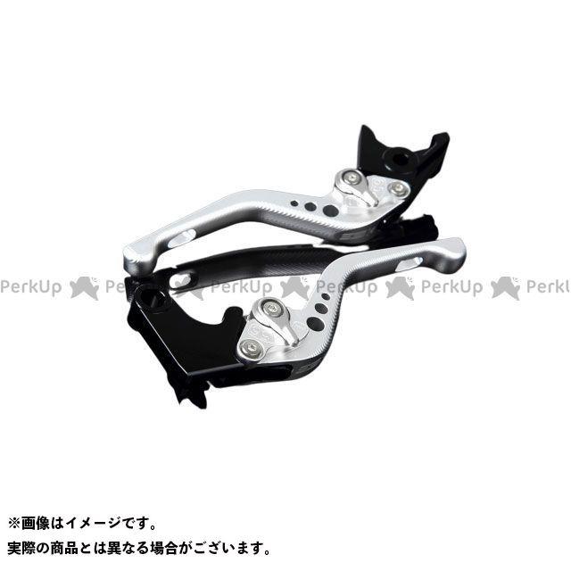 【特価品】SSK VFR1200F アルミビレットアジャストレバーセット 3Dショート(レバー本体:マットシルバー) アジャスター:マットシルバー エスエスケー