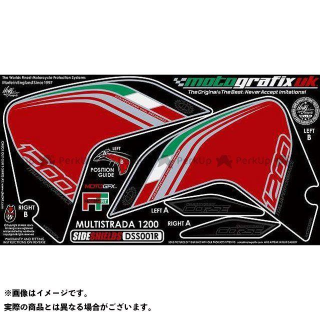 【エントリーで最大P23倍】モトグラフィックス ムルティストラーダ1200 ボディパッド Side Shield ドゥカティ タイプ:DSS001R MOTOGRAFIX