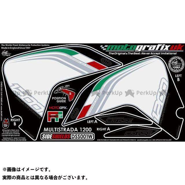 【エントリーで最大P23倍】モトグラフィックス ムルティストラーダ1200 ボディパッド Side Shield ドゥカティ タイプ:DSS001W MOTOGRAFIX