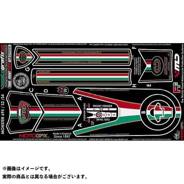 【エントリーで最大P23倍】モトグラフィックス ボディパッド Tank&Front Fender Kit ドゥカティ タイプ:DTF001K MOTOGRAFIX