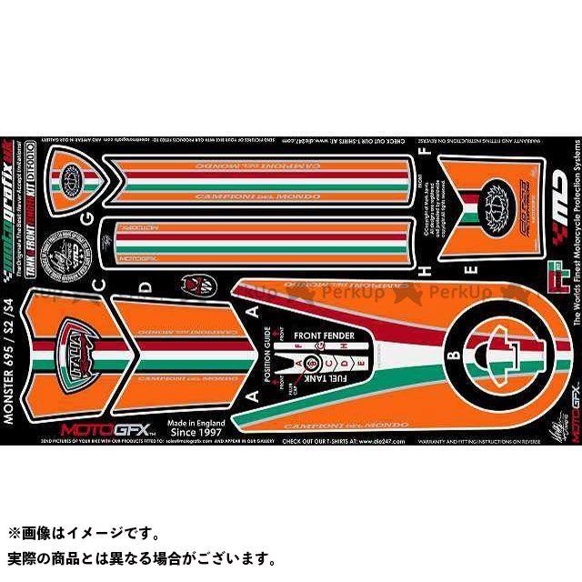 【エントリーで最大P23倍】モトグラフィックス ボディパッド Tank&Front Fender Kit ドゥカティ タイプ:DTF001O MOTOGRAFIX