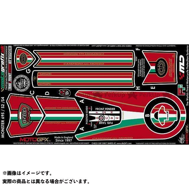 【エントリーで最大P23倍】モトグラフィックス ボディパッド Tank&Front Fender Kit ドゥカティ タイプ:DTF001R MOTOGRAFIX