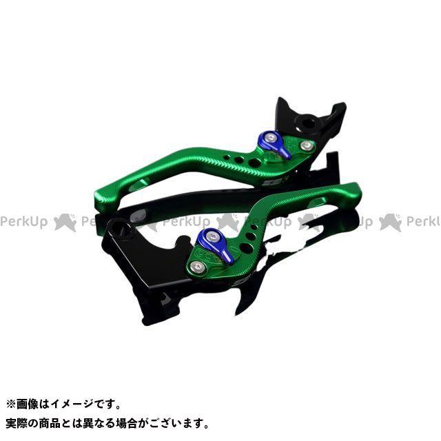 【エントリーで最大P21倍】SSK CBR600RR CBR954RRファイヤーブレード アルミビレットアジャストレバーセット 3Dショート(レバー本体:マットグリーン) アジャスター:マットブルー エスエスケー