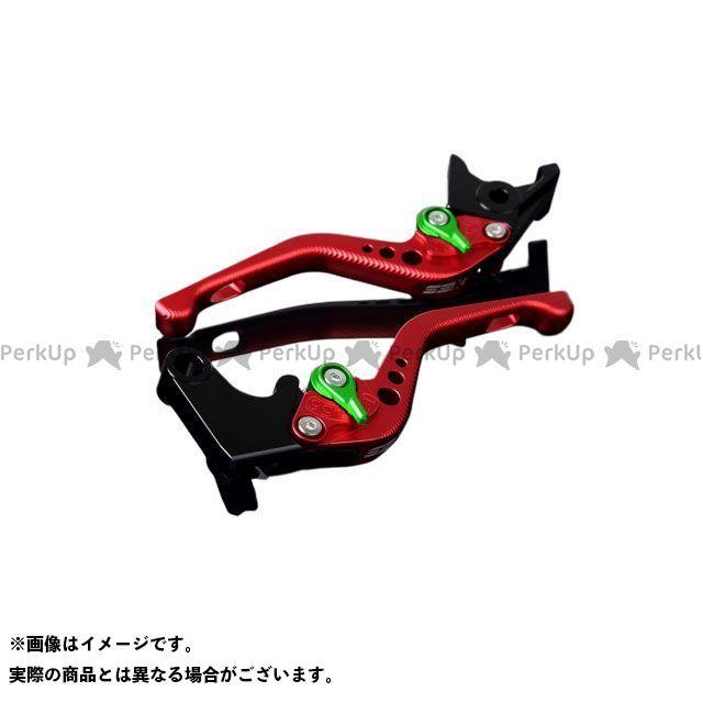 【エントリーで最大P21倍】SSK CBR600RR CBR954RRファイヤーブレード アルミビレットアジャストレバーセット 3Dショート(レバー本体:マットレッド) アジャスター:マットグリーン エスエスケー