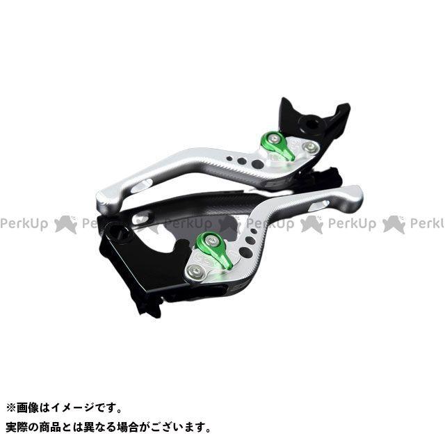 【特価品】SSK CBR1000RRファイヤーブレード CBR600RR アルミビレットアジャストレバーセット 3Dショート(レバー本体:マットシルバー) アジャスター:マットグリーン エスエスケー