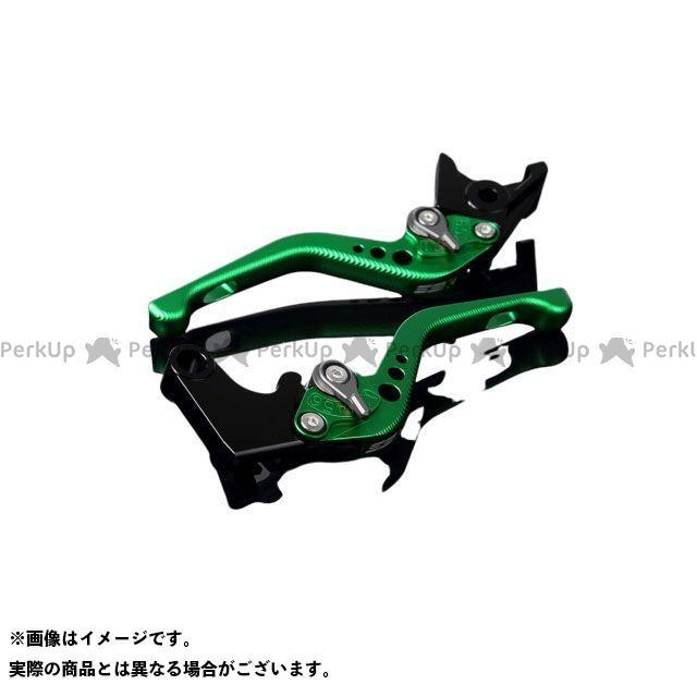 【特価品】SSK CB400スーパーボルドール CB400スーパーフォア(CB400SF) エックスイレブン アルミビレットアジャストレバーセット 3Dショート(レバー本体:マットグリーン) アジャスター:マットチタン エスエスケー