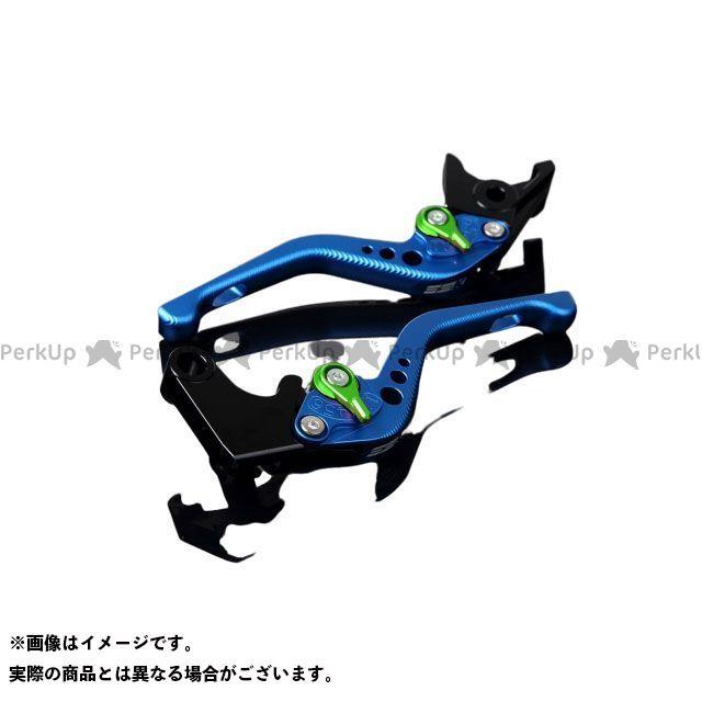 【特価品】SSK CRF1000Lアフリカツイン アルミビレットアジャストレバーセット 3Dショート(レバー本体:マットブルー) アジャスター:マットグリーン エスエスケー