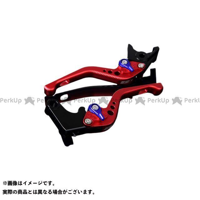 【特価品】SSK Z750 Z800 アルミビレットアジャストレバーセット 3Dショート(レバー本体:マットレッド) アジャスター:マットブルー エスエスケー