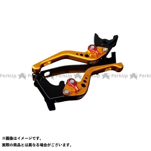 【特価品】SSK ニンジャZX-6R アルミビレットアジャストレバーセット 3Dショート(レバー本体:マットゴールド) アジャスター:マットレッド エスエスケー